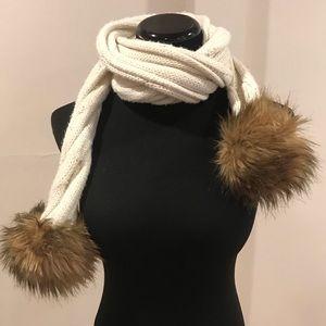 Faux fur ball scarf